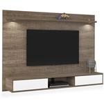 Painel para TV de Até 47 Polegadas com 2 Luminárias em LED, Canela, Charme