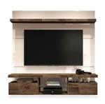 Painel para TV de Até 55 Polegadas 1.60m, Off White com Deck, Livia