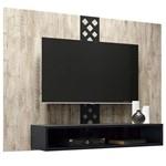 Painel para TV Form Aspen Preto - HB Móveis