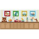 Painel + Saia Lona PVC Kit Profissional Quarto de Brinquedo
