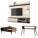 Painel Tv Épic com Mesa de Centro Lucy e Aparador Quad Deck/off White - Hb Móveis