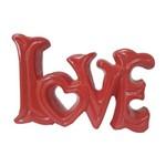 Palavra Decorativa Cerâmica Love Vermelho