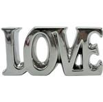 Palavra Decorativa Prata em Cerâmica Love Grande Urban