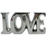 Palavra Decorativa Prata em Cerâmica Love Pequena Urban