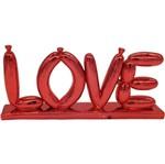 Palavra Decorativa Vermelha em Resina Baloon Love Urban