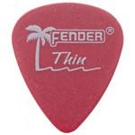 Palheta Fender Califórnia Thin 0.45mm Vermelha