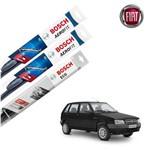 Palheta Limpador Parabrisa Diant+Tras Uno 1984-2010 Bosch