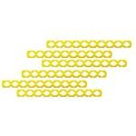 Palito de Sorvete Montável Amarelo - Pacote com 50 Unidades