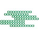 Palito de Sorvete Montável Verde - Pacote com 10 Unidades