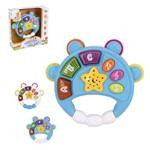 Pandeiro Musical Infantil Baby Magico Colors com Luz a Pilha na Caixa Wellkids