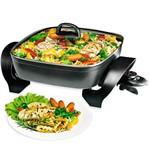 Panela Elétrica Black & Decker Quadrada Cook Chef 4,7 Litros Preta