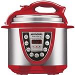 Panela Elétrica de Pressão Mondial Pratic Cook 5L Vermelho/Aço Inox