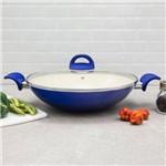 Panela Wok de Cerâmica Intense 32Cm Azul - Euro