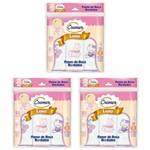 Pano de Boca Menina Rosa Cremer - Kit com 3 Pacotes