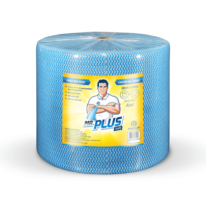Pano Limpeza Leve 35grs 28x300 Azul Proplus