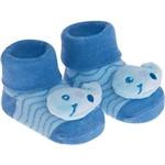 Pantufa Meia Bebê Pimpolho Bichinhos Baleia Azul