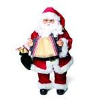 Papai Noel Arcodeão Musical Natal 42 X 21 Cm Pilha Vermelha