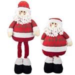 Papai-noel de Natal com Pernas Telescópicas Excelente Qualidade Altura 70cm #1631a