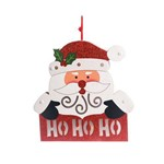 Papai Noel Decoração Natal C/luz 25x25cm Branco