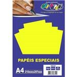 Papel A4 Neon Amarelo 180g.