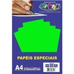 Papel A4 Neon Verde 180g.