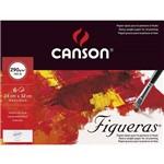 Papel Acrílica/óleo Figueras 290 G/m² A-4+ 24 X 32 Cm com 06 Folhas Pochette Canson