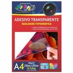 Papel Adesivo A4 Transparente 150g Off Paper 10 Folhas