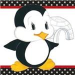 Papel Adesivo Decoupage Pinguim com Iglu Lax-184 - Litocart