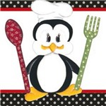 Papel Adesivo Decoupage Pinguim Cozinheiro Lax-186 - Litocart