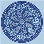Papel Adesivo Decoupage Redondo Litocart LAR-020,5x20,5cm Mandala Arabescos