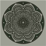 Papel Adesivo Decoupage Redondo Litocart LAR-019 20,5x20,5cm Mandala Border