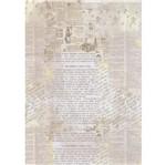 Papel Arroz Adesivado Vintage PAA07 Washi Paper Toke e Crie
