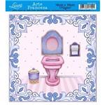 Papel Arte Francesa Litoarte Banheiro Afxv-092
