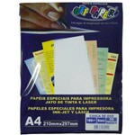 Papel Casca de Ovo A4 180 Branco Off Paper - 50 Folhas