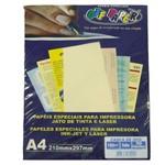 Papel Casca de Ovo A4 180 Palha Off Paper - 50 Folhas