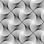 Papel de Parede Adesivo Absrato Hall Preto e Branco Ilusão de Ótica AB14032