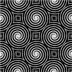 Papel de Parede Adesivo Abstrato Abstrato Hall Espirais Preto e Branco AB14014