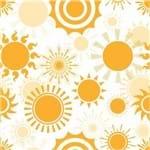 Papel de Parede Adesivo Abstrato Amarelo Hall Sol AB14099