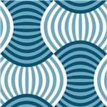 Papel de Parede Adesivo Abstrato Azul Banheiro Leques AB14120
