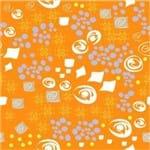 Papel de Parede Adesivo Abstrato Churrasqueira Laranja Lembranças de Aruba AB14007