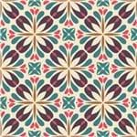 Papel de Parede Adesivo Abstrato Colorido Cozinha Mandala AB14097