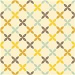 Papel de Parede Adesivo Abstrato Cozinha Amarelo Flores de Primavera AB14056