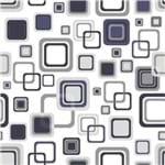 Papel de Parede Adesivo Abstrato Escritório Azul Marinho Quadrados AB14096
