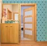 Papel de Parede Adesivo Abstrato Geométrico Azul Branco 629846773