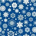 Papel de Parede Adesivo Abstrato Hall Azul Cristais de Neve AB14087