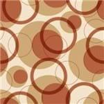 Papel de Parede Adesivo Abstrato Hall Marrom Reflexos de Outono AB14010