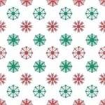 Papel de Parede Adesivo Abstrato Hall Vermelho e Verde Cristais de Neve AB14082