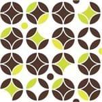 Papel de Parede Adesivo Abstrato Marrom Sala de Jantar Circulos Neon AB14105