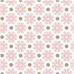 Papel de Parede Adesivo Abstrato Quarto de Casal Rosa Monogramas AB14073