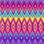 Papel de Parede Adesivo Abstrato Quarto de Solteiro Losangos Meca AB14066